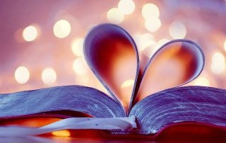 Book with Pages in Heart Shape