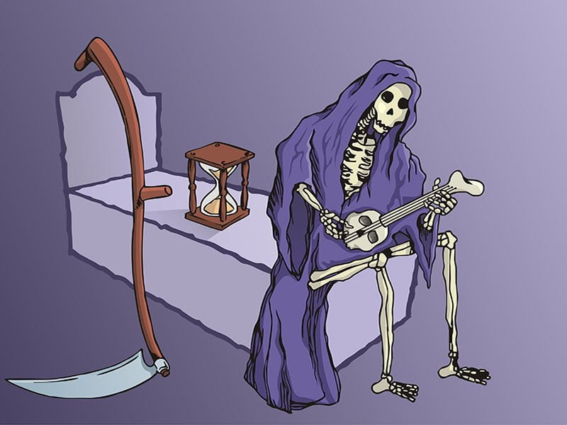 Grim Reaper Playing Guitar
