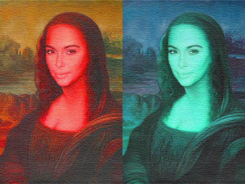 Kim K as Mona Lisa